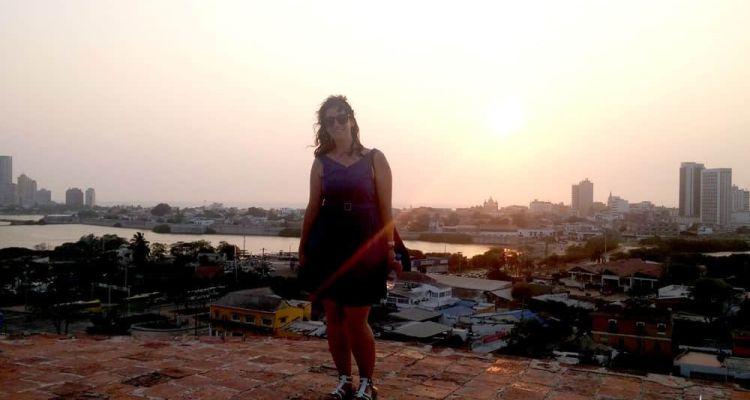 Vistas desde el Castillo San Felipe, Cartagena de Indias, Colombia