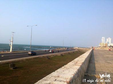 El Malecón de Cartagena, Colombia