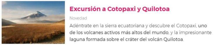 Excursión a Cotopaxi
