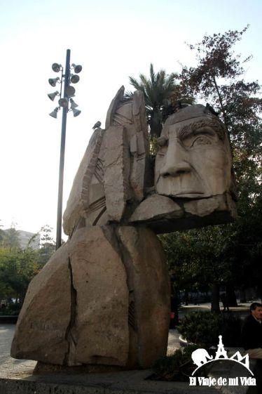Recuerdo de los Mapuche en Santiago de Chile