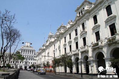 La Plaza San Martín en Lima, Perú