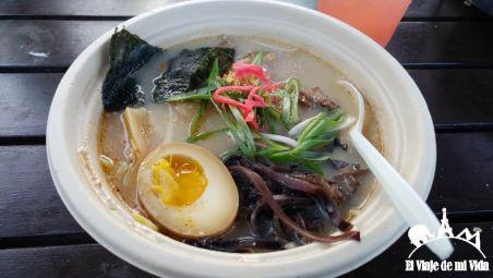 Plato de ramen japonés por 12 dólares en San Francisco