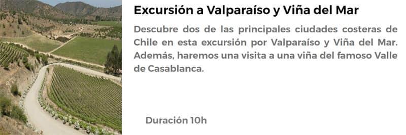 Excursión a Valparaíso y Viña del Mar