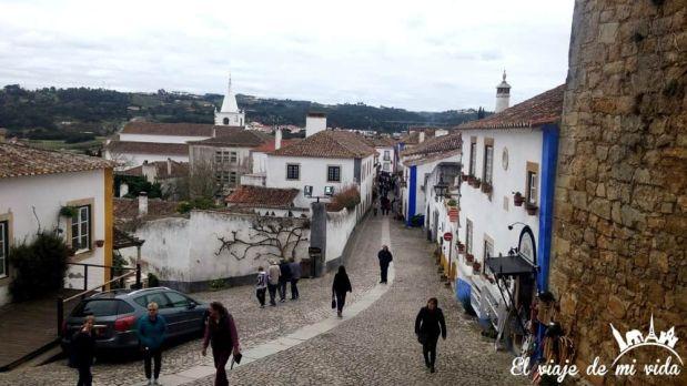 La ciudad de Óbidos en Portugal