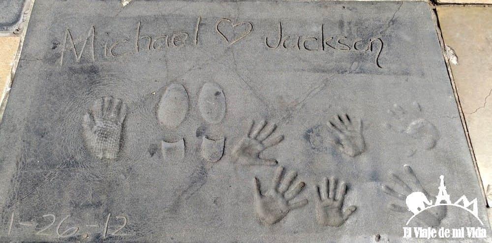 Las huellas de Michael Jackson en Hollywood