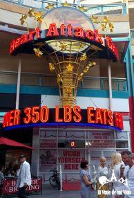 El restaurante Heart Attack en Fremont Street