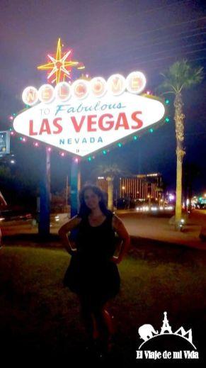 El cartel de bienvenido de Las Vegas