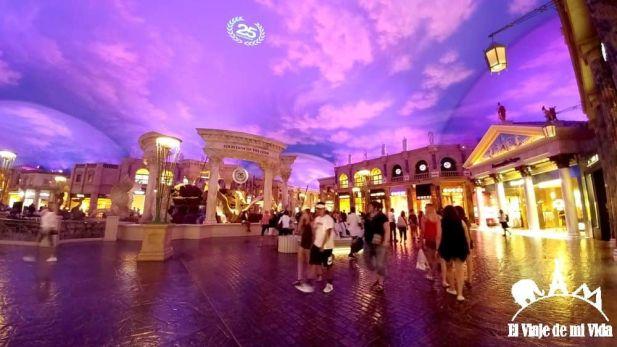 El interior del Centro comercial