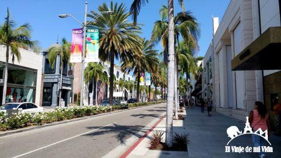 La cinematográfica Rodeo Drive en Beverly Hills