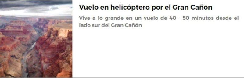 Vuelo en helicóptero por el Gran Cañón