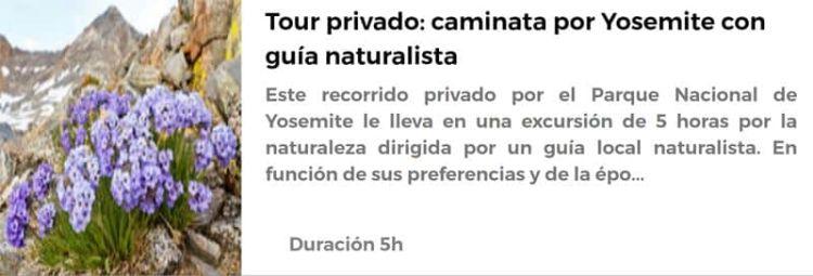 Caminata con guía naturalista