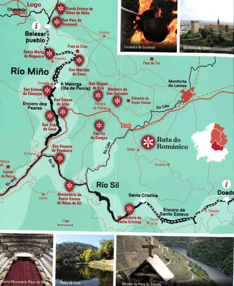 Mapa de la Ribeira Sacra