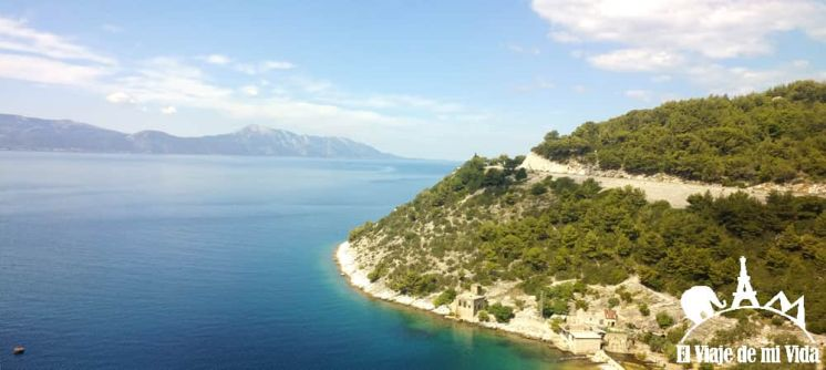 La costa dálmata de camino a Split