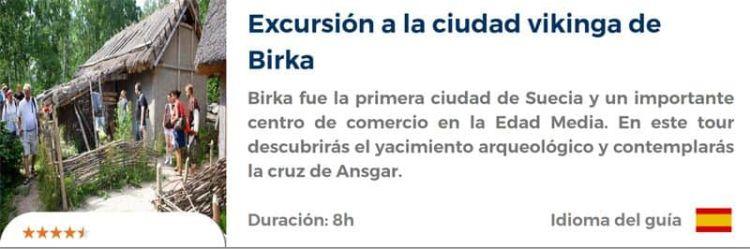 Excursión a la ciudad vikinga de Birka