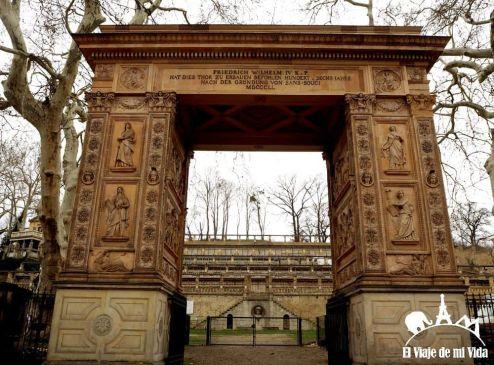Arco junto a Sanssouci