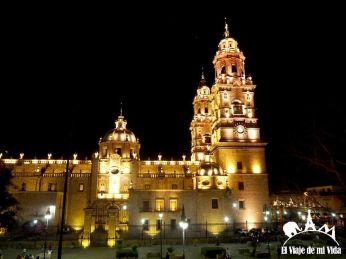 Catedral de Morelia de noche