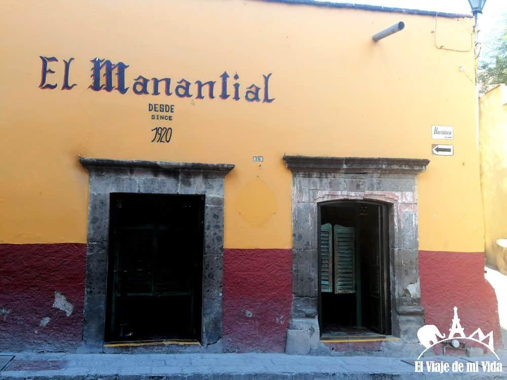El Manantial en San Miguel de Allende