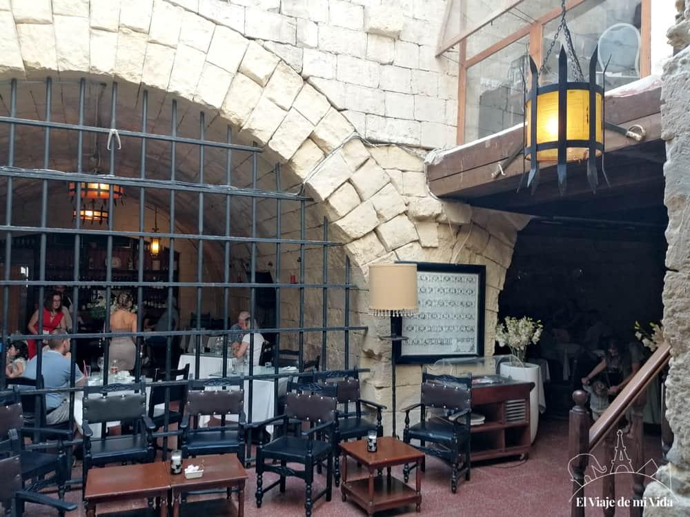 El Restaurante Bacchus en Mdina