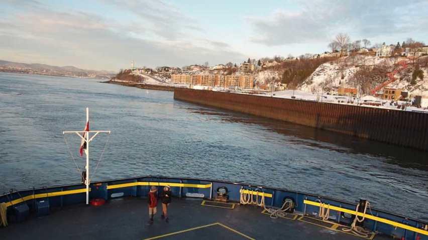 Ferry de camino a Lévis