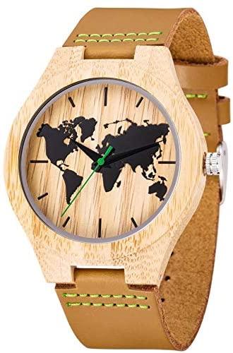 Reloj bambú