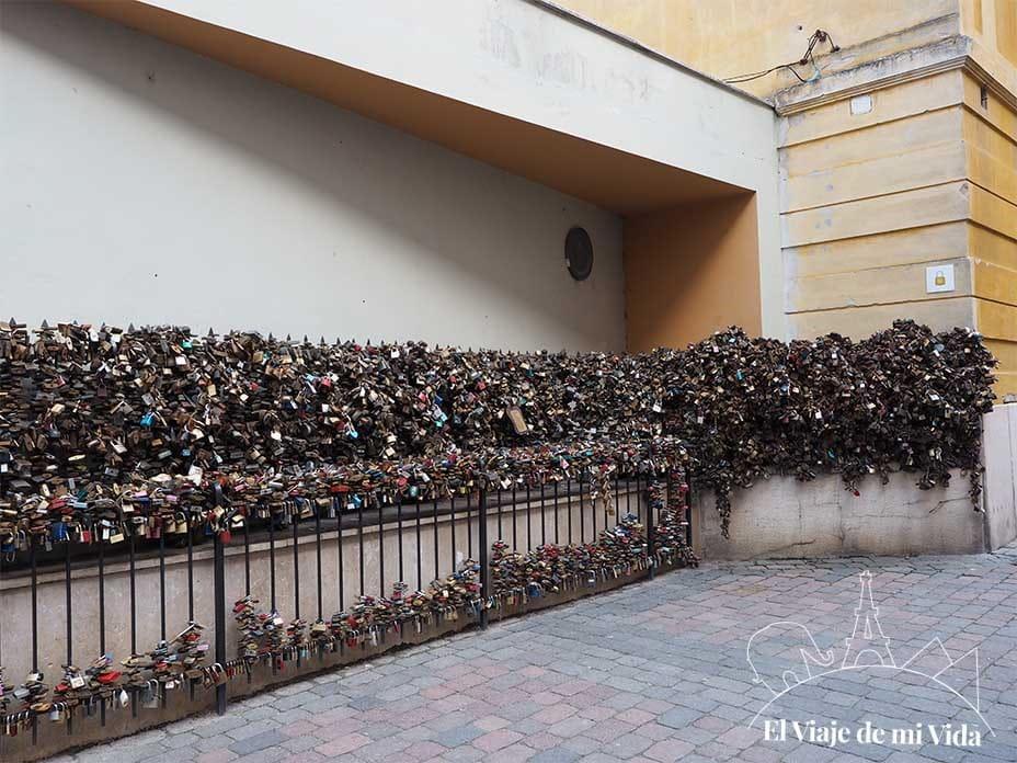 Los candados del amor de Pécs