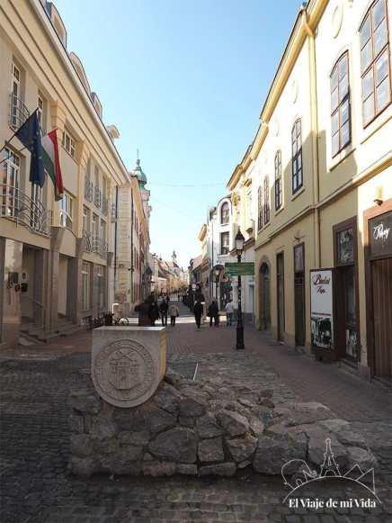 Restos de la antigua muralla de Pécs