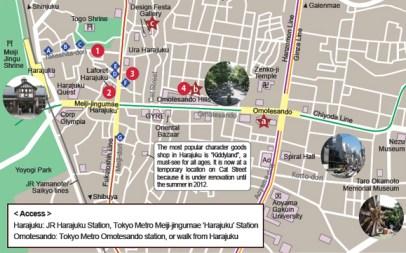 10 Mapa Harajuku Tokyo