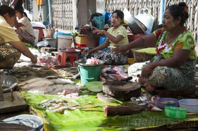 Yangón, mercados de la ciudad 15