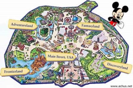 Mapa de Eurodisney Paris