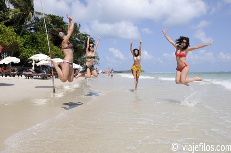 Disfrutando de las playas de Koh Samui.