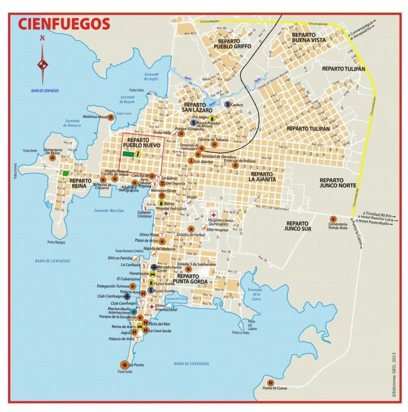 Mapa Cienfuegos