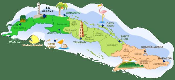 Mapa-Cuba