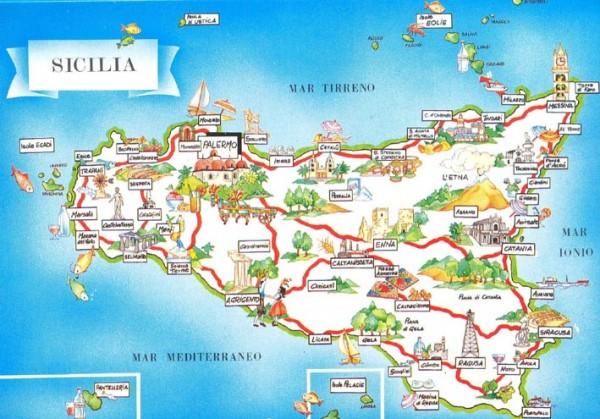 Mapa Sicilia