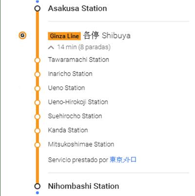 Como llegar desde Asakusa hasta Tokyo Station y tren hasta Takayama