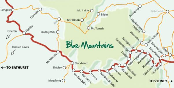 Ciudades cercanas Blue Mountains