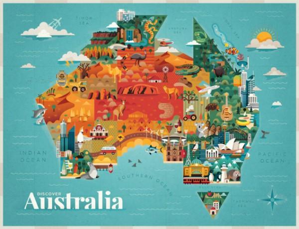 Mapa Austalia