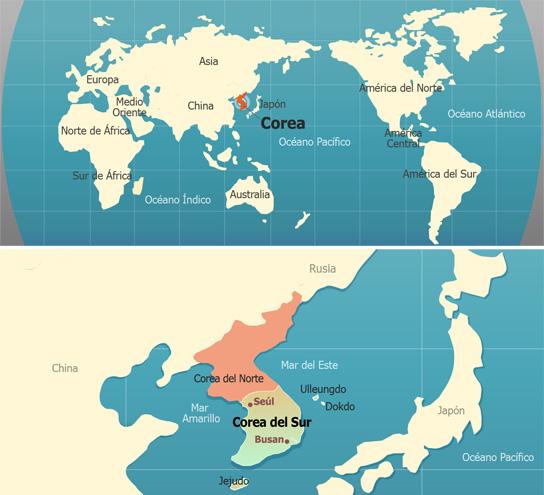 Mapa-Corea