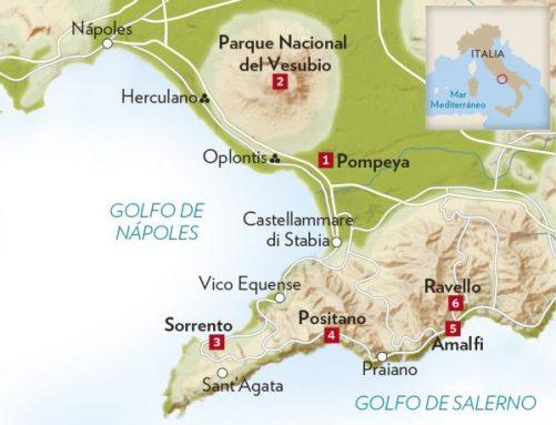 Mapa Napoles-Pompeya