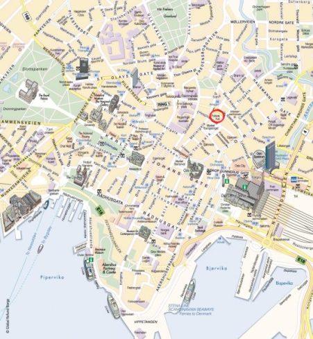 Mapa de Oslo