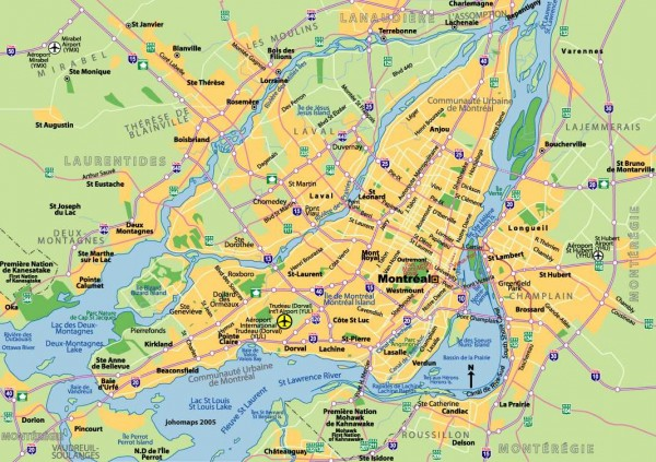 Mapa turismo Montreal