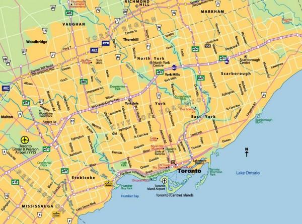 Mapa turismo Toronto
