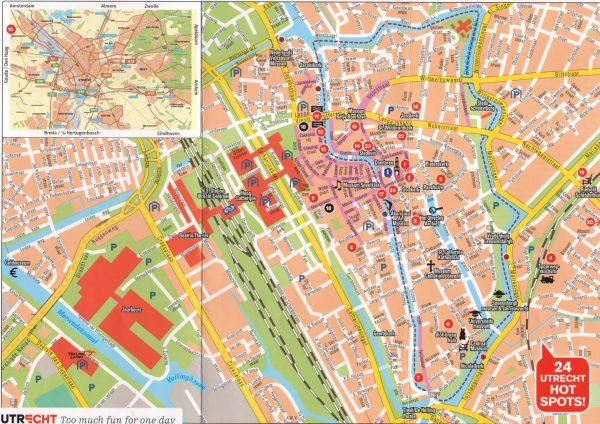 Mapa turistico Utrecht