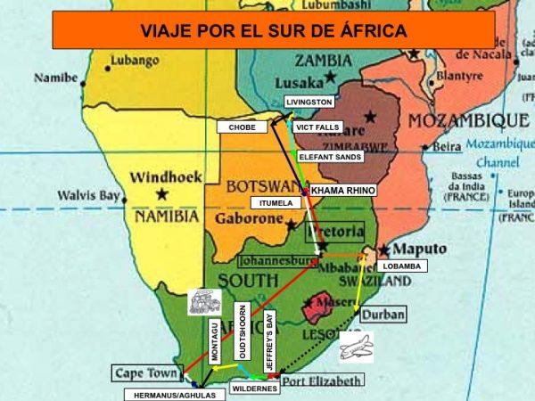 Recorrido por el Sur de Africa