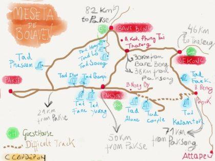 Ruta en moto Bolaven Plateau