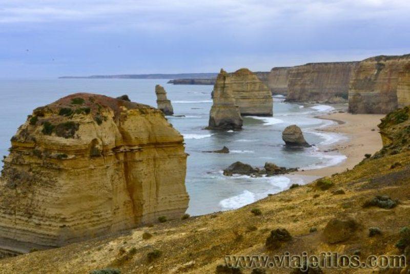 Los doce apóstoles de la GOR en nuestro recorrido en caravana por Australia