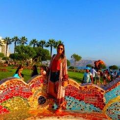 No colorido Parque do Amor