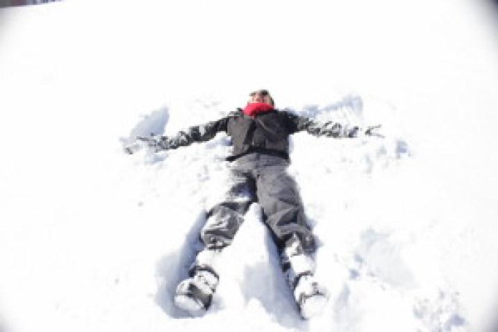 Brincando na neve