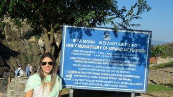 Entrada de mosteiro em Meteora
