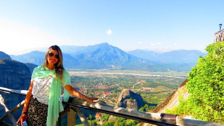 Vista de Meteora na Grécia