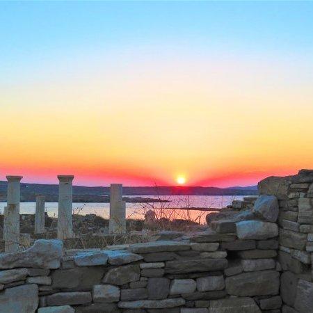 Pôr do sol na Ilha de Delos - O que fazer em Mykonos